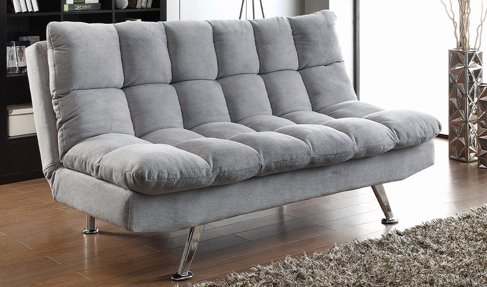 Elise Biscuit Tufted Back Sofa Bed Light Grey
