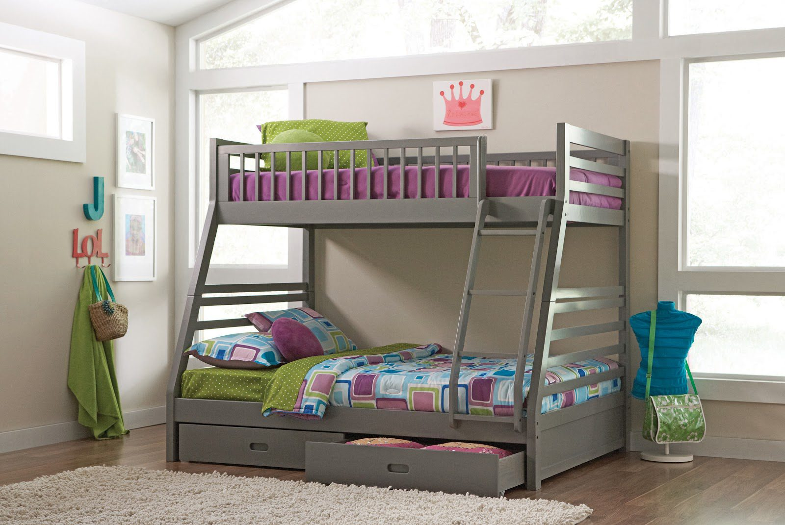 Coaster preteen room with bunk bed