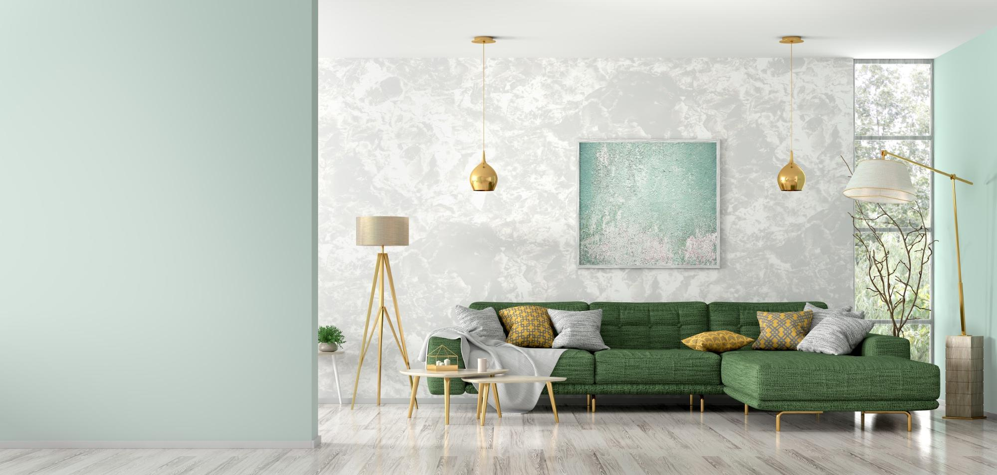 How to make your living space pop with a green sofa and other green accents