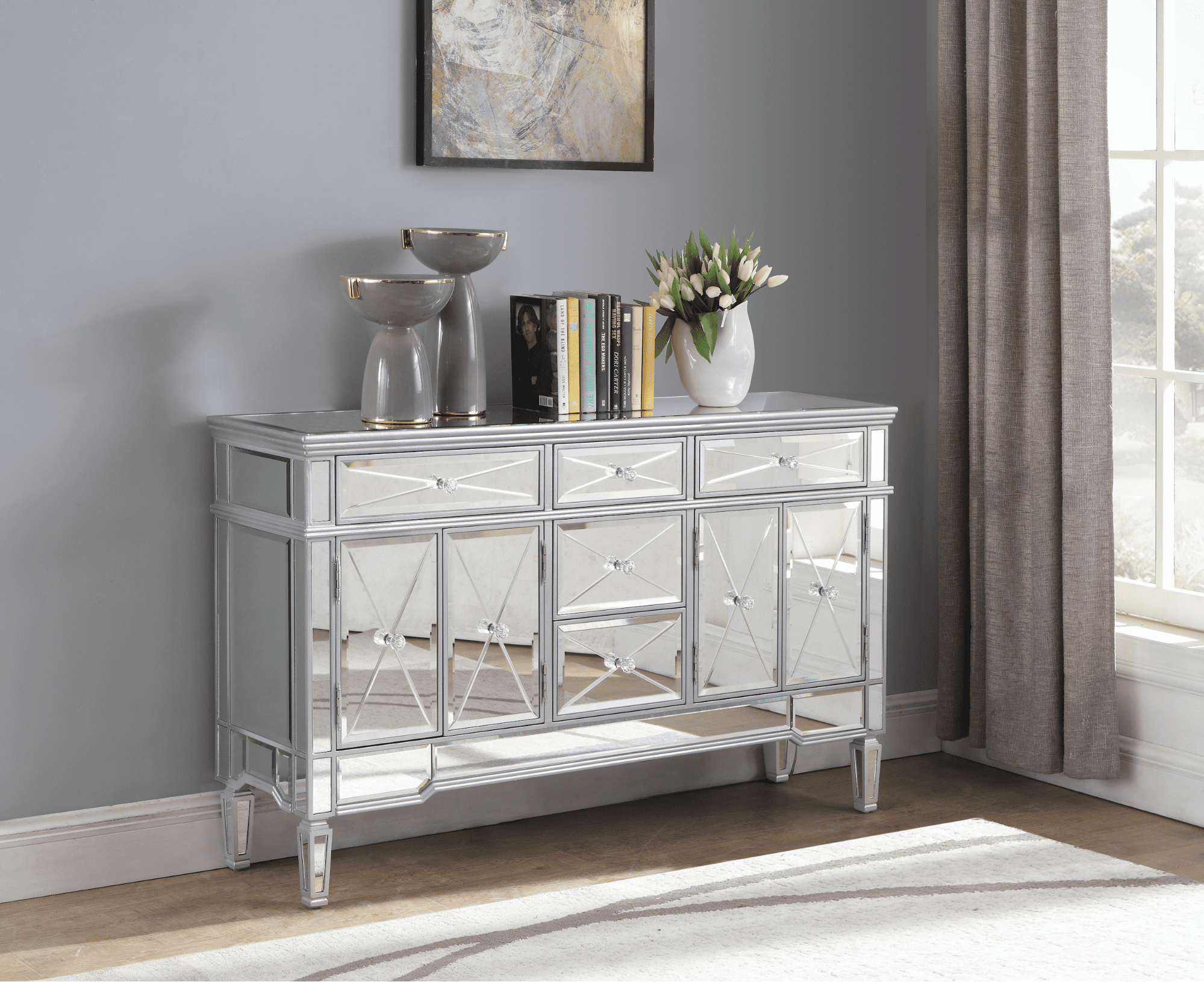 Get your glam on: How to make a statement with a mirrored dresser