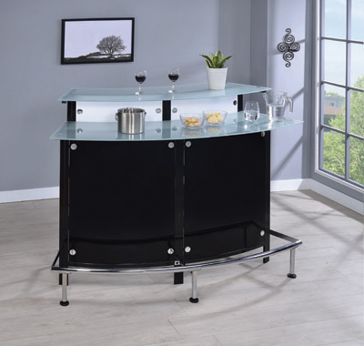 Glass Top Bar Unit Black - Hover