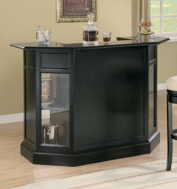 2-door Bar Unit Black and Clear - Hover