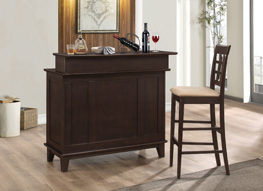 2-door Bar Unit with Adjustable Shelves Cappuccino - Hover