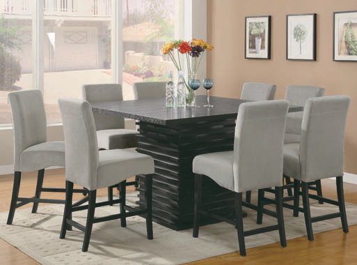 Stanton Upholstered Counter Height Chairs Grey and Black (Set of 2) - Hover