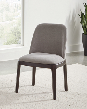 Annapolis Upholstered Dining Chairs Espresso and Grey (Set of 2) - Hover