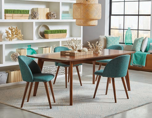 Malone Rectangular Dining Table Dark Walnut - Hover