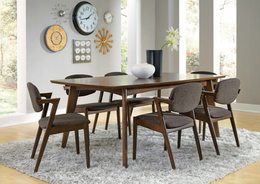 Malone Dining Side Chairs Grey and Dark Walnut (Set of 2) - Hover