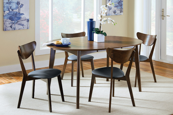 Malone Oval Dining Table Dark Walnut - Hover