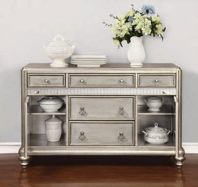 Danette 5-drawer Dining Server Metallic Platinum - Hover