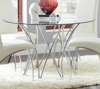 Cabianca Dining Table Base Chrome