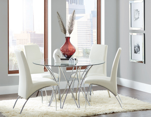 Cabianca Dining Table Base Chrome - Hover