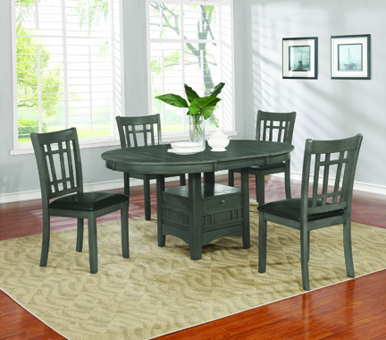 Lavon 5-piece Dining Set Medium Grey - Hover