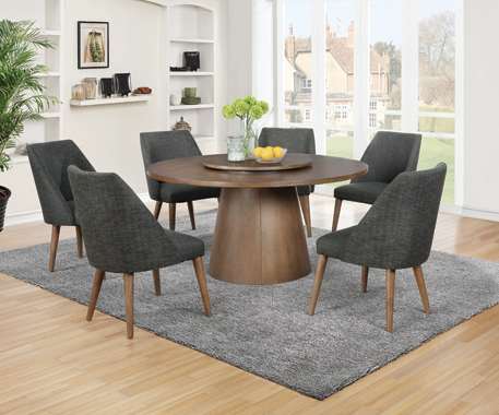 Beverly Upholstered Side Chairs Dark Grey and Dark Cocoa (Set of 2) - Hover