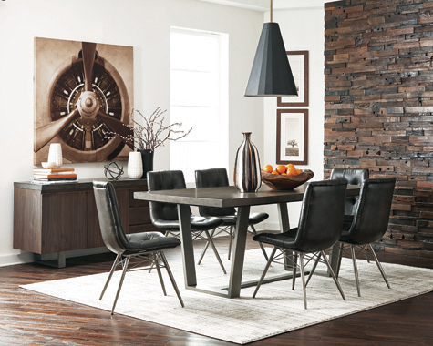 Dittnar Tufted Dining Chairs Charcoal (Set of 4) - Hover