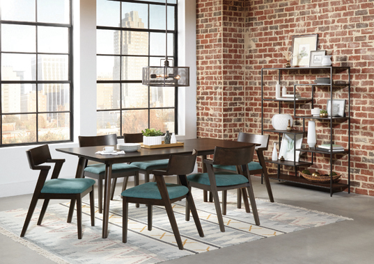 Jarmen Upholstered Dining Chairs Teal (Set of 2) - Hover