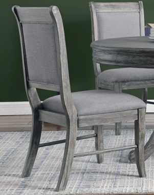Darcy Upholstered Padded Side Chairs Grey (Set of 2) - Hover