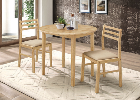 3-piece Dining Set with Drop Leaf Natural and Tan - Hover
