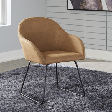 Arcadia Upholstered Side Chairs Brown (Set of 2) - Hover