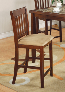 5-piece Counter Height Dining Set Red Brown and Tan - Hover