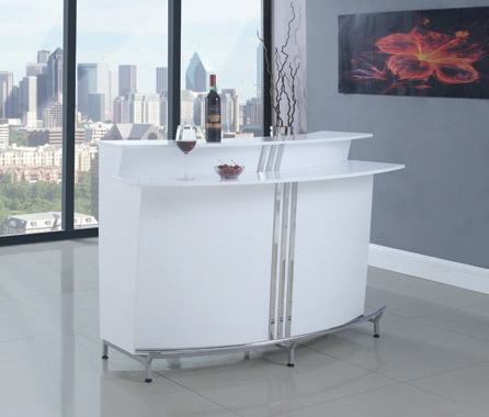 3-tier Bar Unit Glossy White - Hover