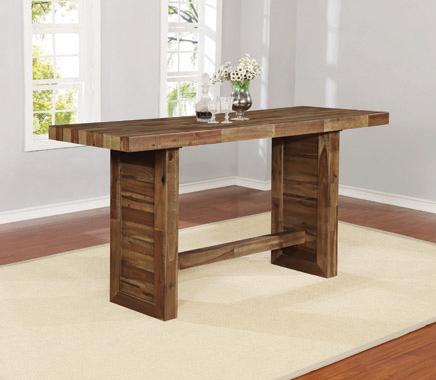 Rectangular Bar Table Varied Natural - Hover