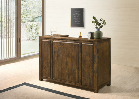 1-drawer Bar Unit Rustic Oak - Hover