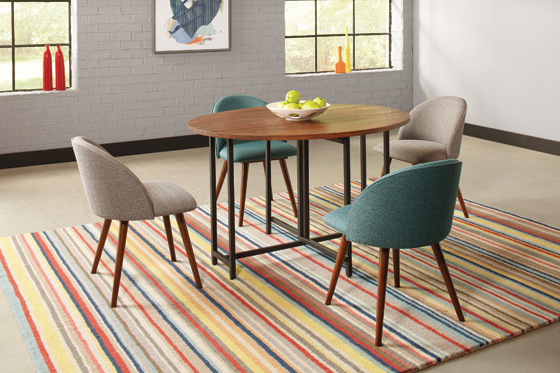 Upholstered Dining Chairs Teal (Set of 2) - Hover