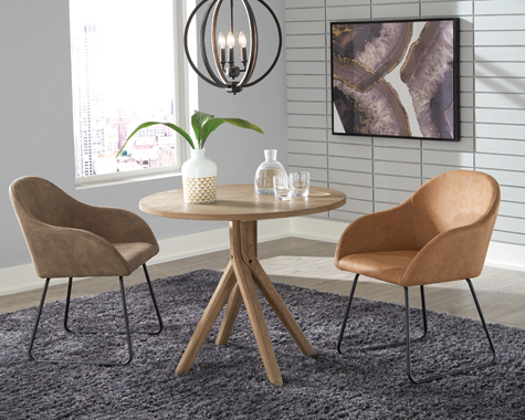Arcadia Twisted Round Dining Table Greige - Hover