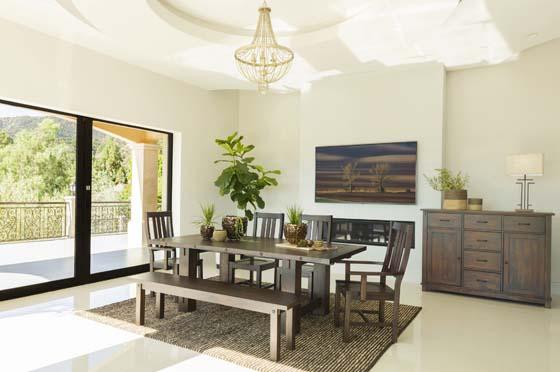 Calandra 6-piece Dining Set with Bench Vintage Java
