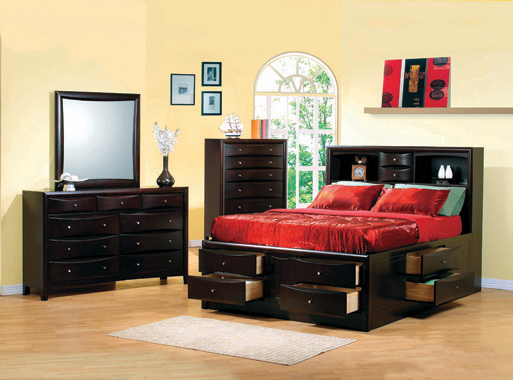 Phoenix 10-drawer Queen Bed Deep Cappuccino - Hover