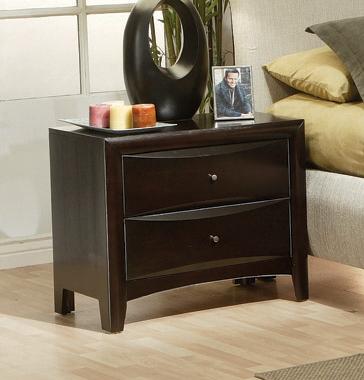 Phoenix 2-drawer Nightstand Deep Cappuccino - Hover