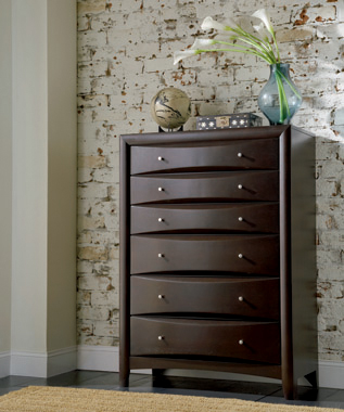Phoenix 6-drawer Chest Deep Cappuccino - Hover