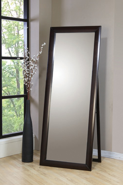 Rectangular Standing Floor Mirror Black - Hover