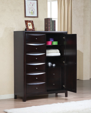 Phoenix 6-drawer Man's Chest Deep Cappuccino - Hover