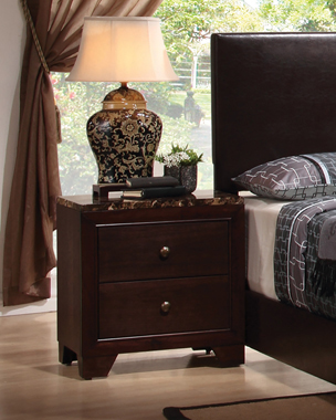 Conner 2-drawer Rectangular Nightstand Cappuccino - Hover