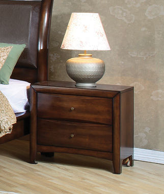 Hillary 2-drawer Nightstand Warm Brown - Hover