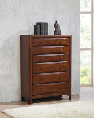 Hillary 6-drawer Chest Warm Brown - Hover
