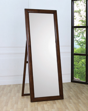 Rectangular Standing Floor Mirror Warm Brown - Hover