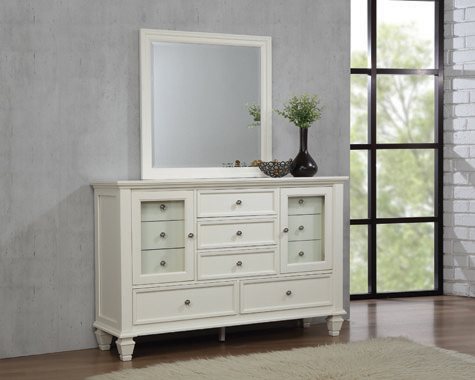 Sandy Beach 11-drawer Rectangular Dresser White - Hover