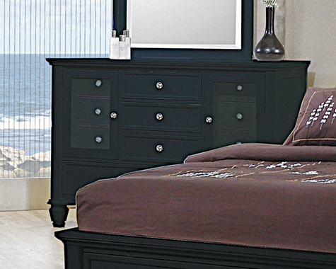 Sandy Beach 11-drawer Dresser Black