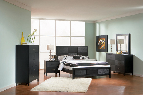 Grove California King Panel Bed Black - Hover