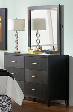Grove 6-drawer Dresser Black - Hover