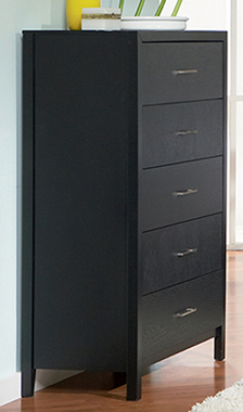 Grove 5-drawer Chest Black - Hover
