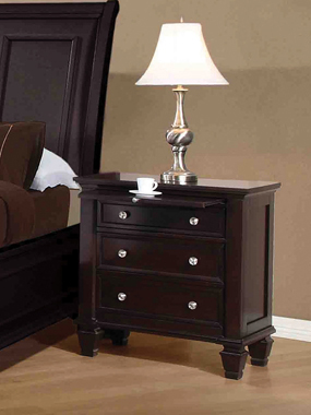 Sandy Beach 3-drawer Nightstand Cappuccino - Hover