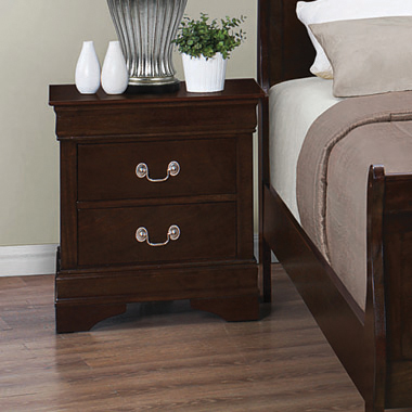 Louis Philippe 2-drawer Nightstand Cappuccino - Hover