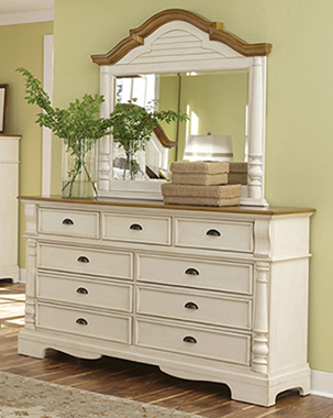 Oleta 9-drawer Dresser Buttermilk and Brown - Hover