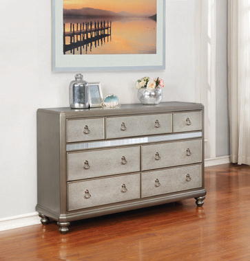 Bling Game 7-drawer Dresser Metallic Platinum - Hover