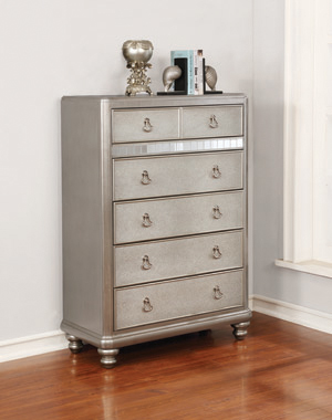 Bling Game 6-drawer Chest Metallic Platinum - Hover