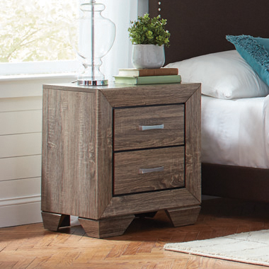 Kauffman 2-drawer Nightstand Washed Taupe - Hover