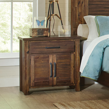 Sutter Creek 2-door Nightstand Vintage Bourbon - Hover